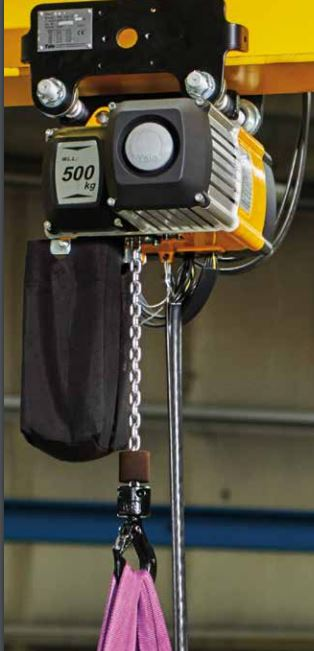 CMCO EL. CHAIN HOIST CPV 10-4 1000kg 3m LIFTING HEIGHT 4m/min with PUSH TROLLEY 42V