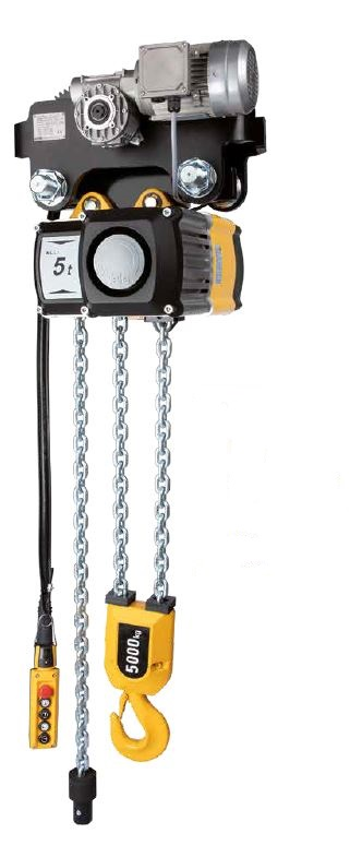 CMCO EL. CHAIN HOIST CPV 10-8 1000kg 3m LIFTING HEIGHT 8m/min with ELECTRIC TROLLEY 18m/min 42V
